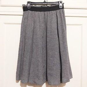 Zara Wool Blend Houndstooth Skirt